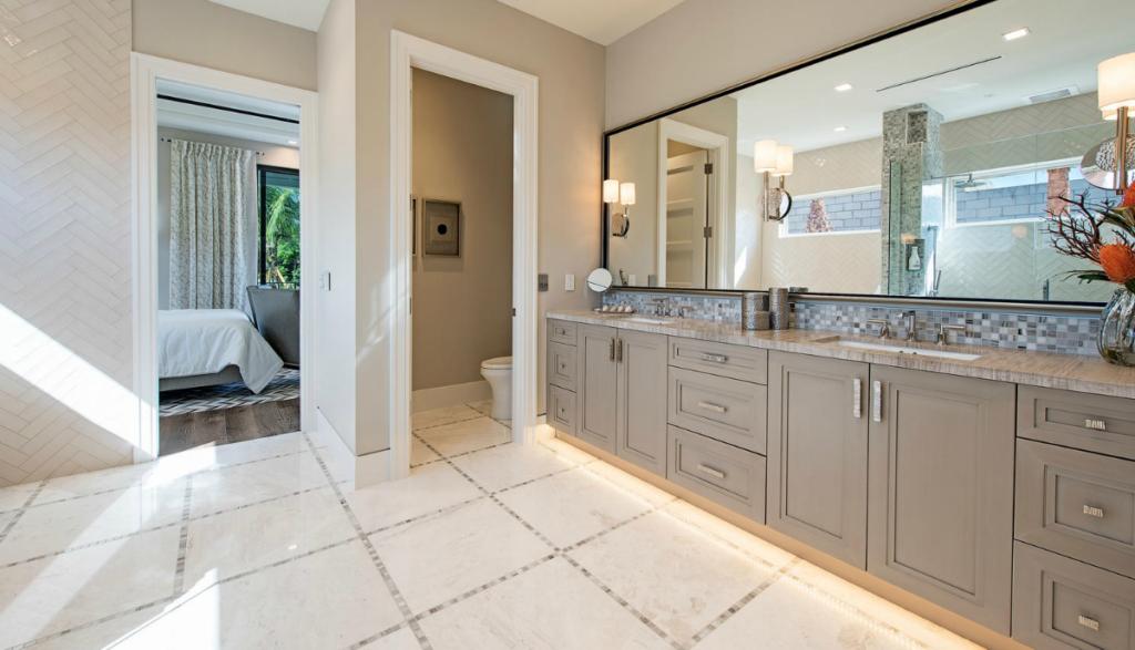 Newport model master bathroom