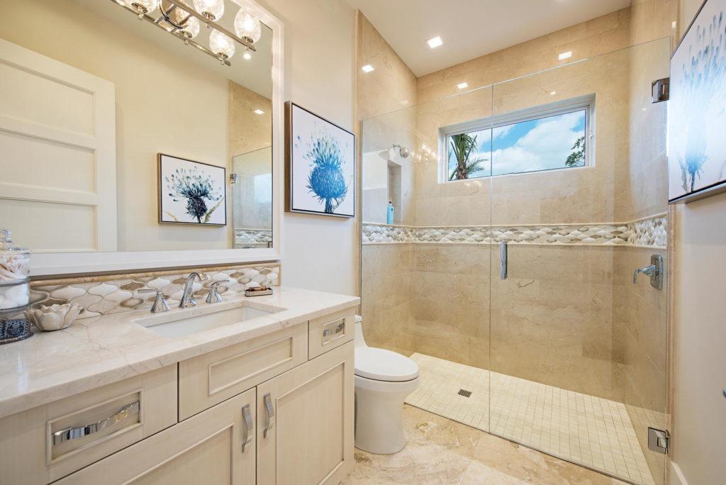 Luxury custom guest bathroom