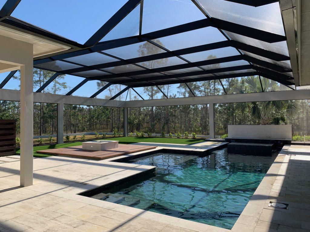Newport model outdoor living Naples Club Estates