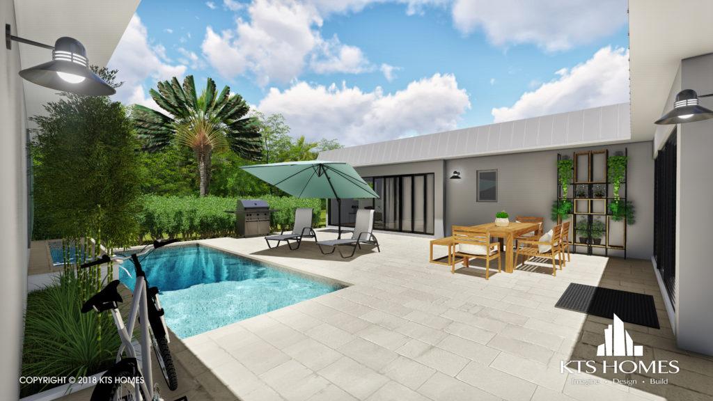 Seagate Villas outdoor living area
